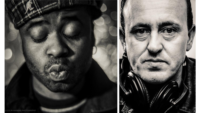 Portraits of DJs Juan Atkin & Danny Ramplings &